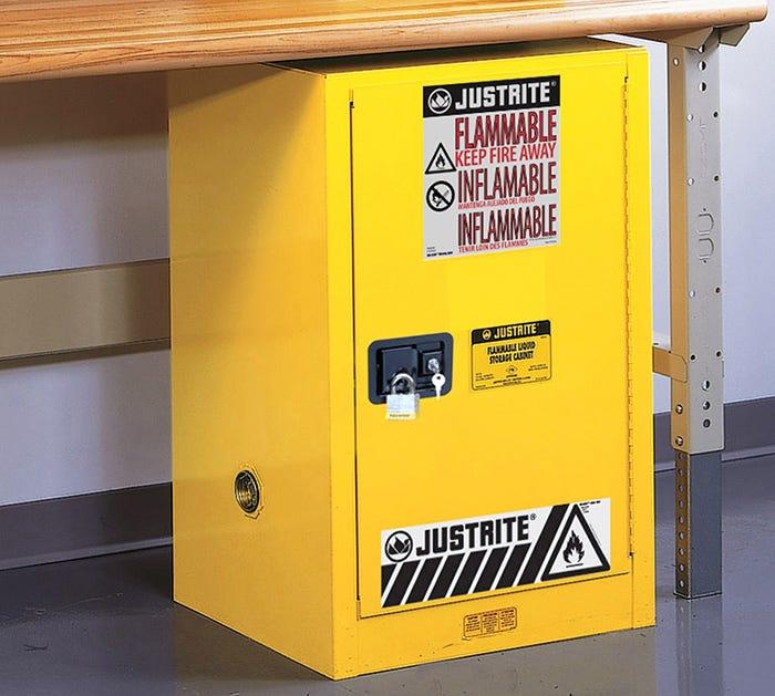 Justrite Solvent Cabinet Storage